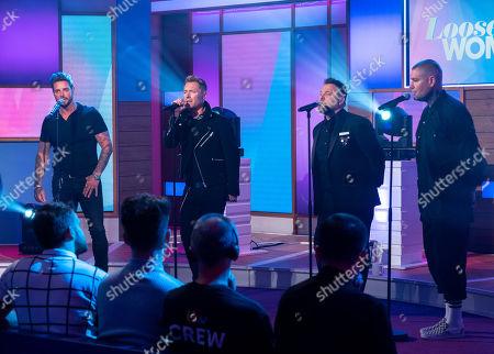Boyzone - Keith Duffy,, Ronan Keating, Mikey Graham, Shane Lynch