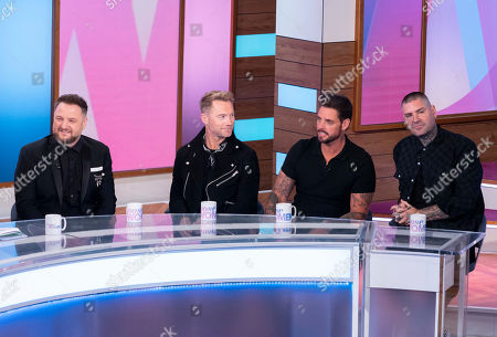 Stock Picture of Boyzone - Keith Duffy,, Ronan Keating, Mikey Graham, Shane Lynch