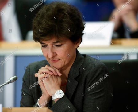 European Commissioner-designate in charge of Internal Market from France, Sylvie Goulard, during her second hearing before the European Parliament in Brussels, Belgium, 10 October 2019. Goulard was rejected by a vote of 82 MEPs against 29.