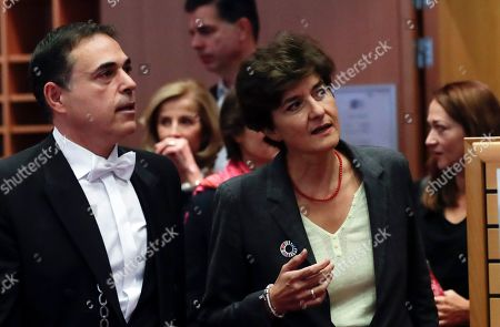 Stock Image of European Commissioner-designate in charge of Internal Market from France, Sylvie Goulard, during her second hearing before the European Parliament in Brussels, Belgium, 10 October 2019. Goulard was rejected by a vote of 82 MEPs against 29.