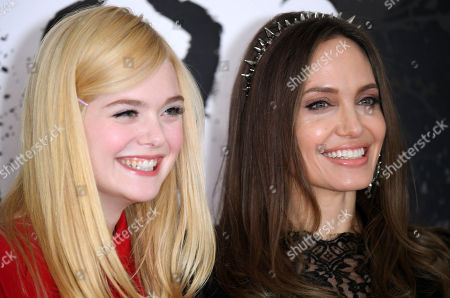 Stock Image of Elle Fanning and Angelina Jolie