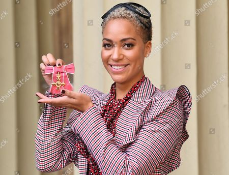 Cush Jumbo OBE, after an Investiture at Buckingham Palace.