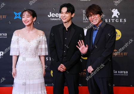Tatsuyuki Nagai, Ryo Yoshizawa and Riho Yoshioka