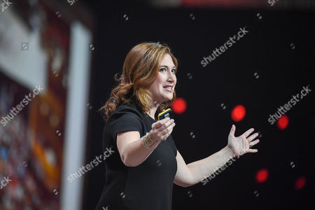 Founder and CEO of Zuckerberg Media, a boutique marketing firm and production company, Randi Zuckerberg speaks in the Nordic Business Forum in Helsinki, Finland, 10 October 2019.