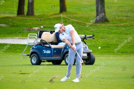 Stock Picture of English Danny Willett in action on the 18th hole  during the first day of the Golf Italian Open 2019, Rome, 10 October 2019.
