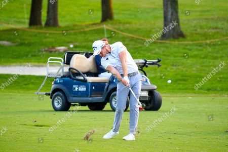 Stock Photo of English Danny Willett on the 18th hole during the first day of the Golf Italian Open 2019, Rome, 10 October 2019.