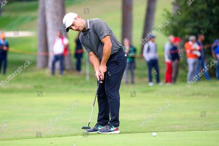 Italian Francesco Molinari plays a putt during the Golf Italian Open 2019, Rome, 10 October 2019.