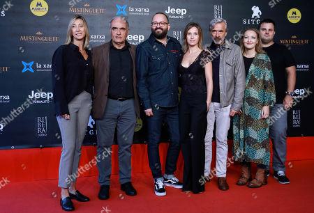 Fernando Gonzalez, Francesc Orella, Marta Etura, Imanol Arias, Nuria Valls, Rosa Perez and Adrian Guerra attend the premiere of 'Legado en los huesos' ('The Legacy Of The Bones')