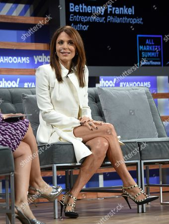 Entrepreneur and author Bethenny Frankel participates in the Yahoo Finance All Markets Summit at Union West, in New York
