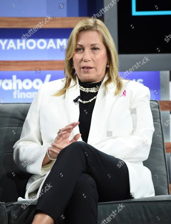 Stock Picture of Susan G. Komen CEO Paula Schneider participates in the Yahoo Finance All Markets Summit at Union West, in New York