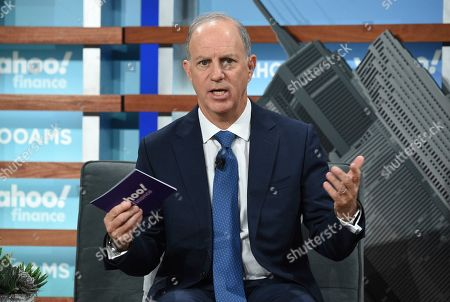 Stock Picture of Yahoo Finance editor in chief Andy Serwer participates in the Yahoo Finance All Markets Summit at Union West, in New York