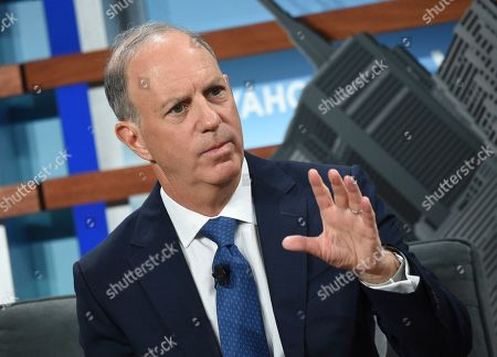 Yahoo Finance editor in chief Andy Serwer participates in the Yahoo Finance All Markets Summit at Union West, in New York