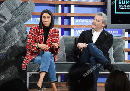 Eva Chen, Mark D'Arcy. Instagram director of fashion partnerships Eva Chen, left, and Facebook chief creative officer Mark D'Arcy participate in the Yahoo Finance All Markets Summit at Union West, in New York