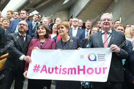 Editorial picture of Autism Hour photocall at The Scottish Parliament, Edinburgh, Scotland, UK - 10 October 2019
