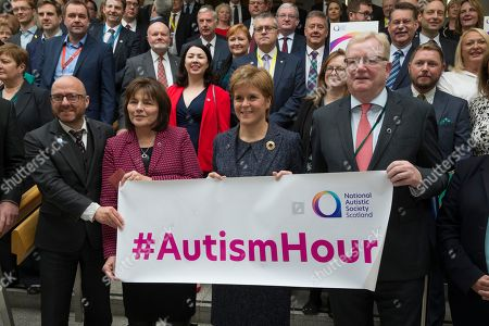 Editorial image of Autism Hour photocall at The Scottish Parliament, Edinburgh, Scotland, UK - 10 October 2019