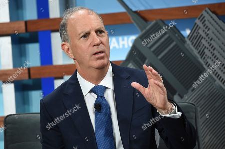Stock Photo of Yahoo Finance editor in chief Andy Serwer participates in the Yahoo Finance All Markets Summit at Union West, in New York