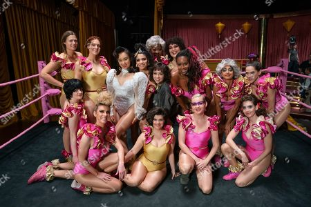 Marianna Palka as Reggie Walsh, Kate Nash as Rhonda Richardson, Ellen Wong as Jenny Chey, Shakira Barrera as Yolanda Rivas, Kia Stevens as Tamme Dawson, Britt Baron as Justine Biagi, Britney Young as Carmen Wade, Sydelle Noel as Cherry Bang, Sunita Mani as Arthie Premkumar, Jackie Tohn as Melanie Rosen, Gayle Rankin as Sheila the She-Wolf, Betty Gilpin as Debbie Eagan, Rebekka Johnson as Dawn Rivecca, Kimmy Gatewood as Stacey Beswick and Alison Brie as Ruth Wilder