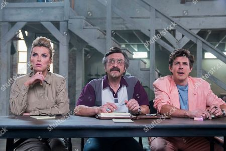 Betty Gilpin as Debbie Eagan, Marc Maron as Sam Sylvia and Chris Lowell as Bash Howard