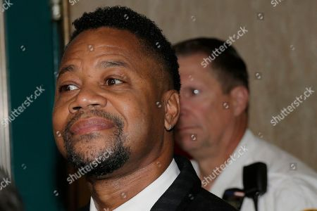 Cuba Gooding Jr. arrives to a courtroom in New York, . The actor is accused of placing his hand on a 29-year-old woman's breast and squeezing it without her consent in New York on June 9