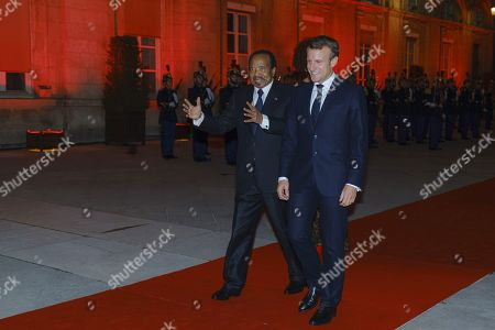 French President Emmanuel Macron, President of Cameroon Paul Biya attend the Sixth Replenishment Conference of the Global Fund to Fight AIDS, Tuberculosis and Malaria.
