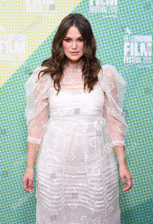 Kiera Knightley poses at a screening of 'Official Secrets' during the BFI London Film Festival in Embankment Garden Cinema in London, Britain, 10 October 2019. The British Film Institute festival runs from 02 to 13 October.