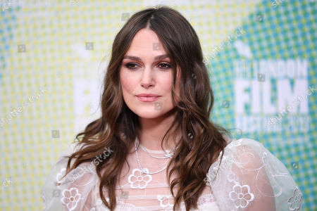 Stock Picture of Kiera Knightley poses at a screening of 'Official Secrets' during the BFI London Film Festival in Embankment Garden Cinema in London, Britain, 10 October 2019. The British Film Institute festival runs from 02 to 13 October.