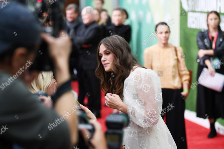 Stock Image of Kiera Knightley signs autographs at a screening of 'Official Secrets' during the BFI London Film Festival in Embankment Garden Cinema in London, Britain, 10 October 2019. The British Film Institute festival runs from 02 to 13 October.