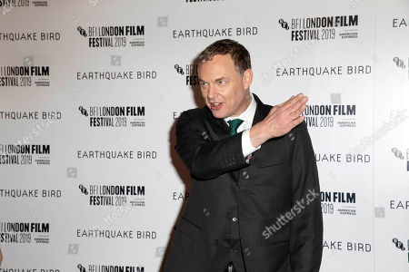 Wash Westmoreland poses for photographers, on arrival at the Premiere of the film 'Earthquake Bird' which is screened as part of the London Film Festival in central London on