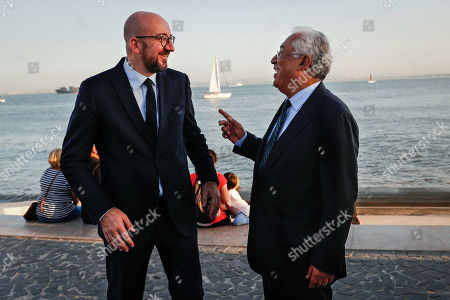 Editorial picture of Amtonio Costa meets elected president of the European Council, Charles Michel, Lisbon, Portugal - 10 Oct 2019