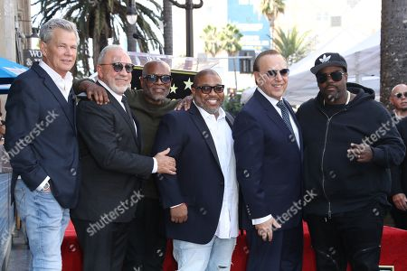 Stock Photo of David Foster, Emilio Estefan, LA Reid, Cory Rooney, Tommy Mottola and Rodney Jerkins