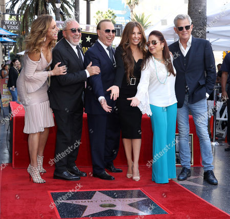 Lili Estefan, Emilio Estefan, Tommy Mottola, Thalia, Gloria Estefan and David Foster