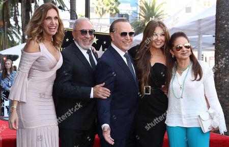 Lili Estefan, Emilio Estefan, Tommy Mottola, Thalia and Gloria Estefan