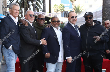 Stock Picture of David Foster, Emilio Estefan, LA Reid, Cory Rooney, Tommy Mottola and Rodney Jerkins
