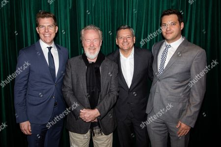 Kevin Walsh, Ridley Scott, Ted Sarandos and Michael Pruss