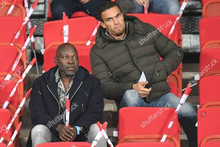 Stock Photo of George Alaba (L), father of Bayern Munich's David Alaba and LASK Linz's head coach Valerien Ismael (R) watch the UEFA EURO 2020 group G qualifying soccer match between Austria and Israel in Vienna, Austria, 10 October 2019.