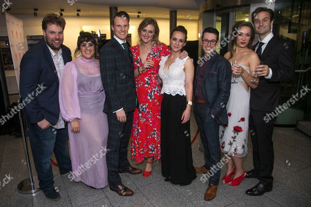 Henry Lewis (Author/Spencer), Nancy Zamit (Moon), Dave Hearn (Paul), Charlie Russell (Katie), Jonathan Sayer (Author/Simon), Bryony Corrigan (Chemise/Miss Murray) and Henry Shields (Author/Archie)