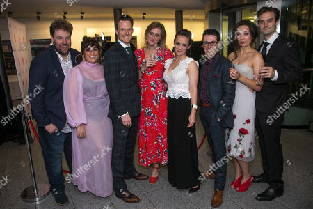 Henry Lewis (Author/Spencer), Nancy Zamit (Moon), Dave Hearn (Paul), Kirsty Patrick Ward (Director), Charlie Russell (Katie), Jonathan Sayer (Author/Simon), Bryony Corrigan (Chemise/Miss Murray) and Henry Shields (Author/Archie)