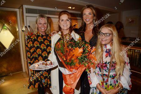 Sarah Jane Thomson, Sarah Ferguson Duchess of York, Heather Kerzner and Jaine Green