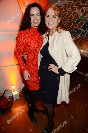 Sally Wood and Sarah Ferguson Duchess of York