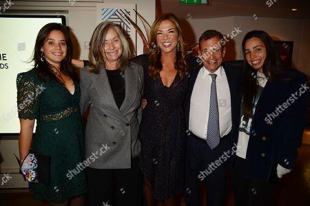 Heather Kerzner with Poju Zabludowicz, Anita Zabludowicz and daughters