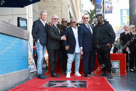 David Foster, Emilio Estefan, LA Reid, Cory Rooney, Tommy Mottola and Rodney Jerkins. David Foster, on left, Emilio Estefan, LA Reid, Cory Rooney, Tommy Mottola and Rodney Jerkins attends the Hollywood Walk Of Fame ceremony honoring Tommy Mottola with the 2,676th star on the Hollywood Walk of Fame on in Hollywood, CA