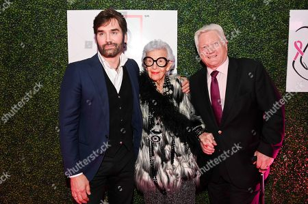 Michael Atmore, Iris Apfel and Ron Fromm
