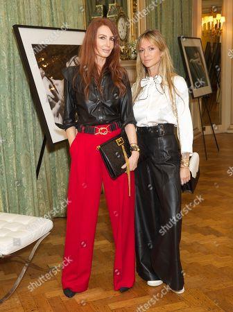 Stock Image of Angela Radcliffe & Caroline Massenet