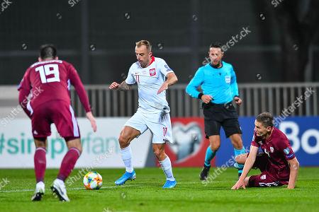 Editorial image of Latvia v Poland, UEFA Euro 2020 Qualifying Group G, Football, Riga  - 10 Oct 2019