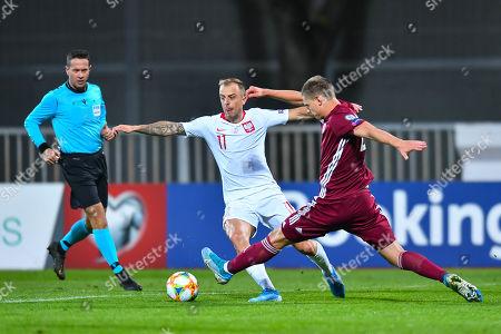 Editorial picture of Latvia v Poland, UEFA Euro 2020 Qualifying Group G, Football, Riga  - 10 Oct 2019