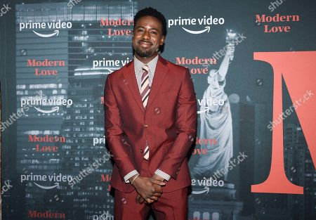 """Gary Carr attends the premiere party for the Amazon Original series """"Modern Love"""" at a Museum of Modern Love pop-up venue, in New York"""