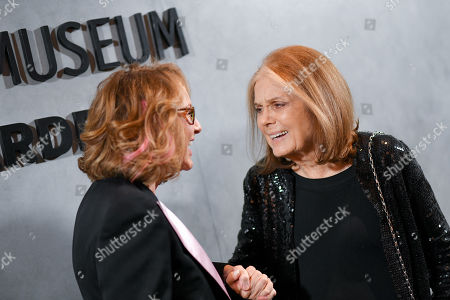 Ann Philbin and Gloria Steinem