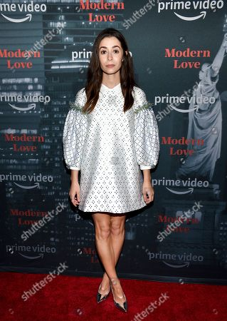 """Cristin Milioti attends the premiere party for the Amazon Original series """"Modern Love"""" at a Museum of Modern Love pop-up venue, in New York"""