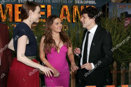Emma Stone, Abigail Breslin and Jesse Eisenberg