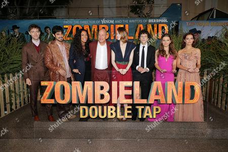 Stock Image of Thomas Middleditch, Avan Jogia, Rosario Dawson, Woody Harrelson, Emma Stone, Jesse Eisenberg, Abigail Breslin and Zoey Deutch